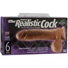 Фаллоимитатор The Realistic® Cock 6, brown (17/4,3; DJ0271-07)